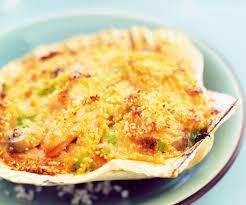cuisine coquille st jacques coquilles jacques gratinées aux légumes façon cyril lignac