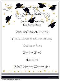 printable graduation invitations dancemomsinfo