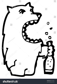 beer cartoon black and white big bad wolf drinking beer cartoon stock illustration 96175202