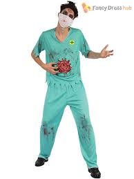 mens ladies zombie surgeon doctor nurse costume halloween fancy