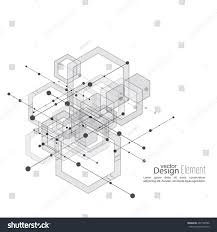 Hexagon Floor Plans Virtual Abstract Background Particle Molecule Structure Stock