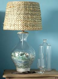 Sea Glass Door Knobs by Beach Lamp Fillable Glass Table Lamp With Seaglass Collection