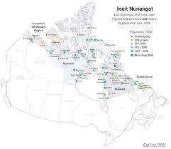 Northern Canada Map by Inuit Nunangat Canadian Environmental Health Atlas