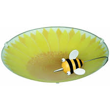 philips 30111 55 48 kidsplace floral and bumble bee ceiling light