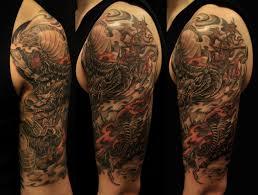 half sleeve and monkey king chronic ink