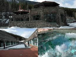 29 banff cave and basin entrance pool and thermal waters in winter