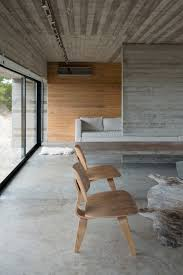 modern architecture of exposed concrete house floor walls and ceiling