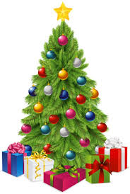 christmas tree with gifts clipart png