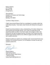Reference Letter peer reference letter edward goff s portfolio