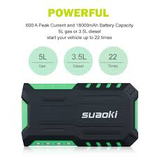 18000mah car jump starter booster mini battery charger power bank