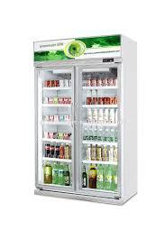 glass door commercial soft drink display chiller refrigerator