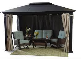 12 X 16 Gazebo Hardtop by Hardtop Gazebo With Privacy Curtains U2022 Garden