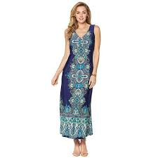 liz lange liz lange indian palace print maxi dress 8283125 hsn