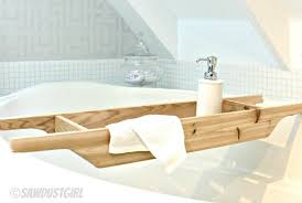 cedar bathtub caddy maker crate