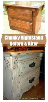 Staining Bedroom Furniture Staining Bedroom Furniture Antiqued White Chunky Nightstand Before