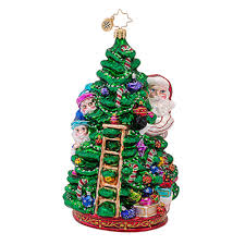 decorating tree trimming party elf by christopher radko for
