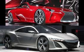 lexus lf lc rc styling standoff naias style acura nsx concept versus lexus lf
