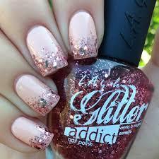 easy nail art glitter 55 super easy nail designs page 36 foliver blog
