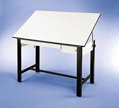 Steel Drafting Table Adjustable Steel Drafting Table With Melamine Top
