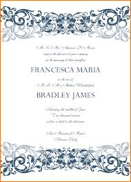 6 free printable wedding invitation templates for word receipt
