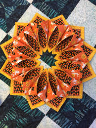 halloween table runner pattern fold n stitch wreath in halloween fabrics great for you halloween