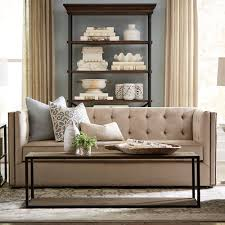 taupe contemporary sofa bassett home furnishings