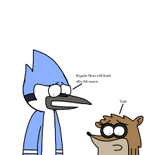 regular show mordecai and rigby talks about regular show ending by