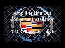 2010 2007 2014 cadillac escalade amplifier wiring install using