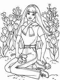 digital dunes barbie flower garden coloring pages