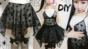 diy spider web irregular symmetrical gothic costume last minute
