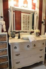 78 clever way to remodelling bathroom with shabby chic dresser