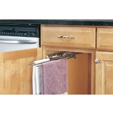 Kitchen Towel Racks For Cabinets Towel Organizers Pull Out And Door Mounted Towel Racks From Rev