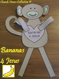 church house collection blog bananas 4 jesus monkey cutout craft