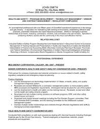 A Job Resume Sample by Click Here To Download This Senior Health And Safety Analyst