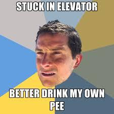 Create My Own Memes - stuck in elevator better drink my own pee create meme