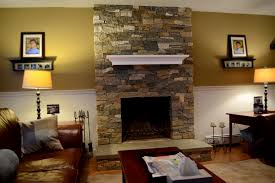 makeover fireplace with airstone fireplace