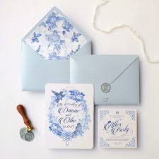 Soft Blue Color Wax Stamp The Love Seal By Memento Idea Bridestory Com