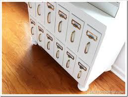 Diy File Cabinet Furniture Makeover Diy Chalk Painted Wood File Cabinet In My