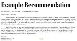 recommendation letters