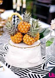 Tropical Themed Wedding Cakes - trending pineapple decor for your wedding mywedding