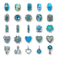pandora bracelet pendant images Viovia mix 25pc lot cute color silver blue crystal charm bead fit jpg