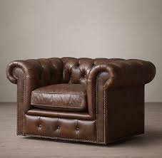 Restoration Hardware Kensington Leather Sofa Leather Swivel Chair