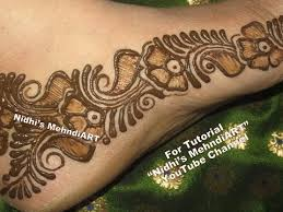 easy arabic mehndi designs for feet henna tattoo designs tutorial