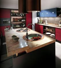 Kitchen Island Red by Furniture Amusing Scavolini Kitchens With Kitchen Island And Red