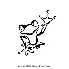 black outline frog design