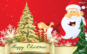 happy merry greeting cards with santa