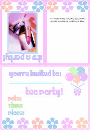 free u0026 printable tea party invitations makeup party invitation 2b