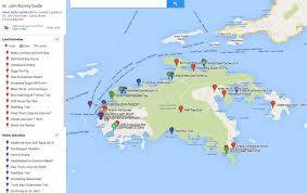 road map of st usvi map st info usvi island travel information