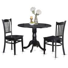 3 Piece Kitchen Table by Round Kitchen Table And 2 Dinette Chairs 3 Piece Dining Set Free