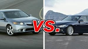 acura vs bmw acura tsx vs bmw 320i carsdirect